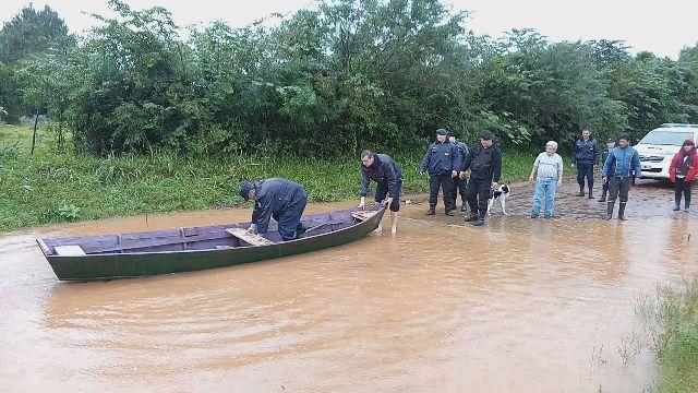 Comenzó a bajar el río Uruguay en El Soberbio