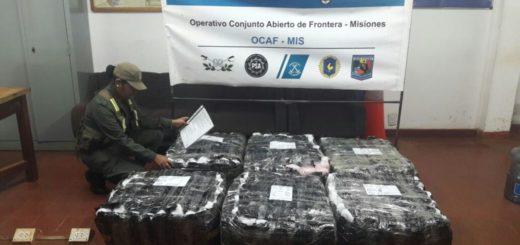 GN decomisó más de 200 mil pesos en contrabando