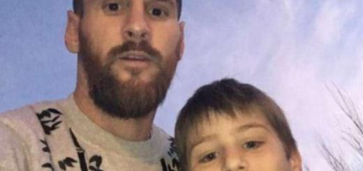 La primera (y por ahora única) foto de Messi en Rosario la consiguió un nene de 10 años