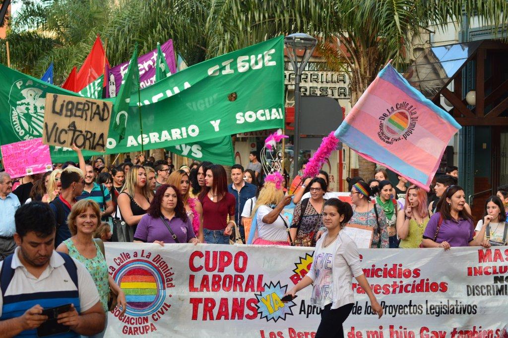 Posadas dijo presente en la Primera Marcha del Orgullo LGBT realizada en Misiones