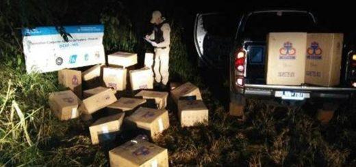 En dos operativos, PNA sacó de circulación 1.700 cartones de cigarrillos contrabandeados