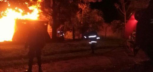 Bonpland: una vivienda humilde fue arrasada por un incendio