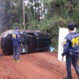 Se despistó un auto en el acceso a San Vicente: un herido