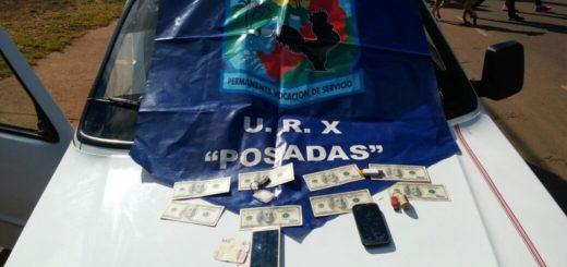 Secuestraron dólares falsos en poder de un hombre que intentó evadir control en Posadas
