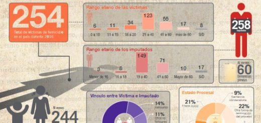 En 2016, en Argentina hubo un total de 254 femicidios, cuatro de ellos en Misiones