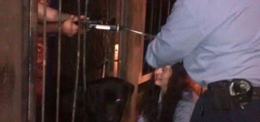 Posadas: dramático rescate de un perro labrador que había quedado atascado en unas rejas