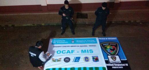 Narcos huyeron a los tiros al ser descubiertos por la Policía y abandonaron una carga de marihuana en San Gotardo