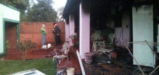 Explotó un generador y desató un incendio en una casa de San Javier