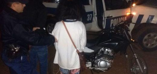 Recuperaron una motocicleta robada y detuvieron a una pareja en San Vicente
