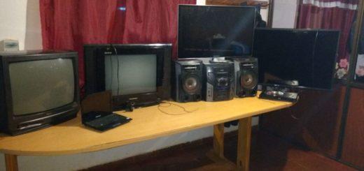 San Vicente: dieron con un aguantadero donde ladrones acopiaban televisores robados