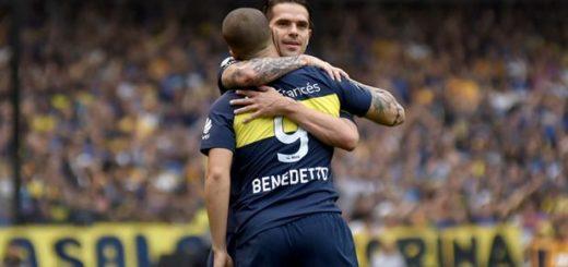 Con un doblete de Benedetto, Boca festeja el título en la Bombonera