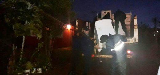Intenso despliegue policial en San Javier y El Soberbio para asistir y evacuar familias