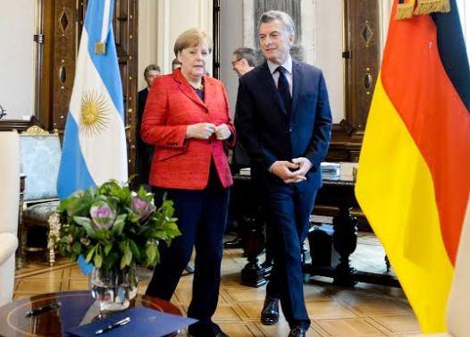 Macri y Ángela Merkel firmaron una declaración conjunta