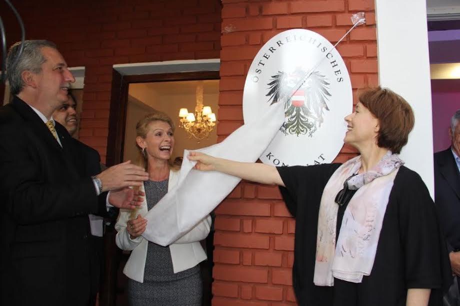 Passalacqua participó del acto de habilitación del Consulado de Austria en Misiones