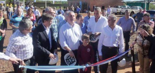 Passalacqua inauguró la planta de tratamiento de residuos cloacales en Eldorado, cuya inversión fue de 50 millones de pesos