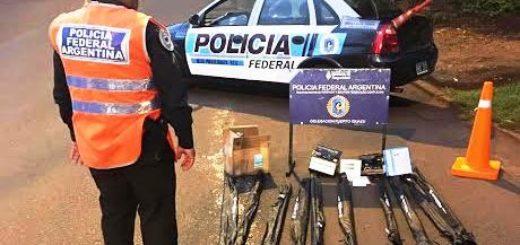 Iguazú: la Policía Federal realizó procedimientos por contrabando