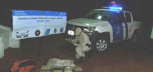 Frustraron el ingreso de una carga de droga traída desde Paraguay en canoa
