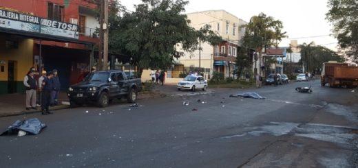 Posadas: dos personas murieron en el acto tras un violento choque que involucró un camión, una camioneta y un colectivo