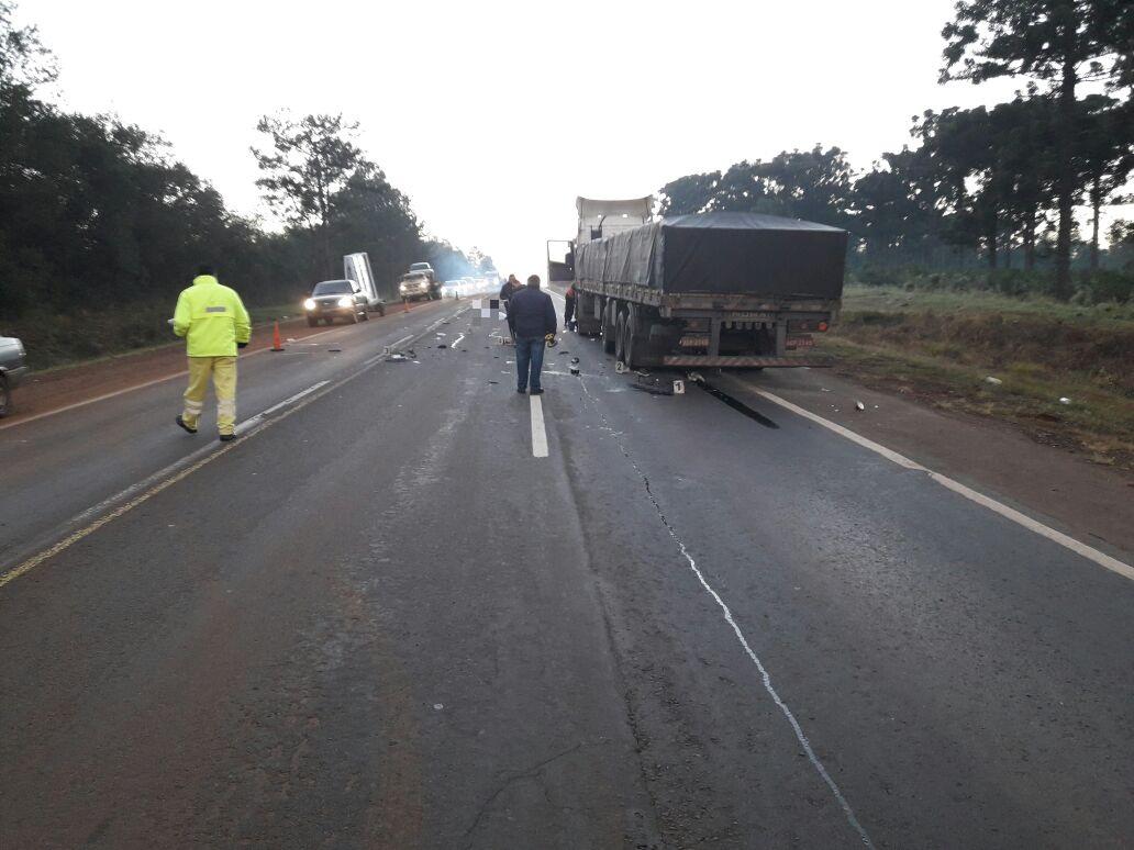 Hipólito Yrigoyen: motociclista falleció al chocar contra un camión en ruta 12