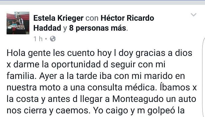 Posadas: una mujer reveló que el vicegobernador Herrera Ahuad la asistió tras accidentarse