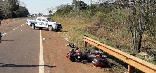 Despiste de moto en ruta 12 dejó dos mujeres hospitalizadas en Hipólito Yrigoyen