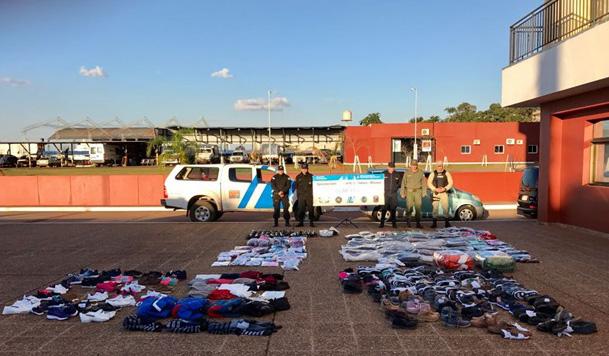 Posadas: decomisan mercadería de contrabando que era transportada en dos camionetas
