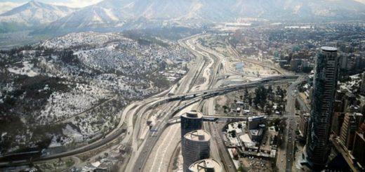 La histórica nevada ya dejó un muerto en Santiago de Chile