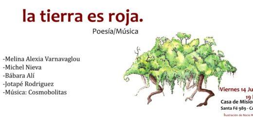 La Tierra es Roja, una nueva edición del ciclo de poesía se presentará en la Casa de Misiones