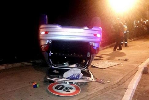 Alcohol al volante en Iguazú: joven volcó, se negó al test de alcoholemia y ahora está preso