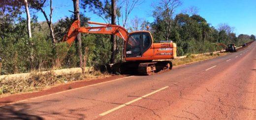 Vialidad realiza trabajos en la ruta provincial 7 y solicitan circular con precaución por la zona