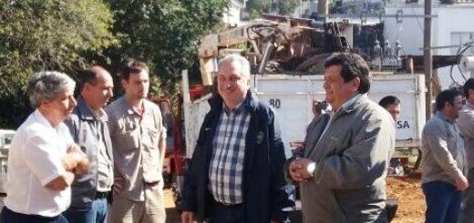 Passalacqua recorrió obras a cargo de EMSA en Bernardo de Irigoyen