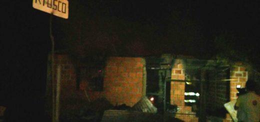 Se incendió una casa en el Kilómetro 4 de Eldorado y una familia perdió todos sus bienes