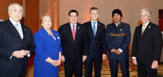 """El presidente Macri llamó a los países del Mercosur a dar muestras al mundo del """"valor de la integración"""""""