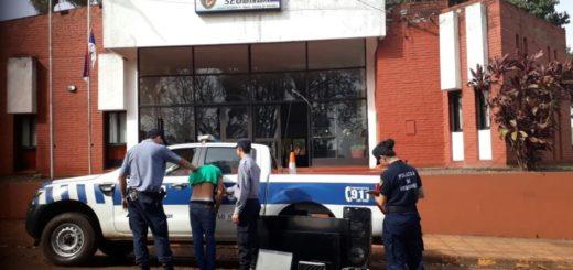 En un rápido accionar policías recuperaron elementos robados de una vivienda de Oberá