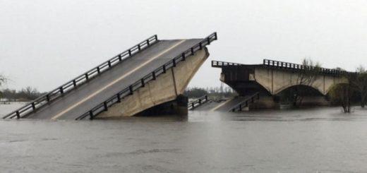 Caída del puente Esquina-Goya: vecinos piden un servicio sanitario aéreo y acondicionar las rutas alternativas