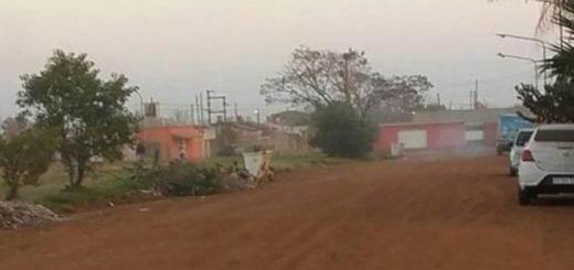 Hombre a los tiros causó pánico en un conocido barrio de Santo Tomé