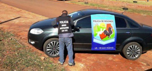 San Vicente: recuperaron un auto relacionado a una estafa en Buenos Aires y hay un joven involucrado