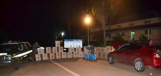 Decomisaron 1.450 cartones de cigarrillos extranjeros sin el correspondiente aval legal de ingreso al país en Santo Pipó