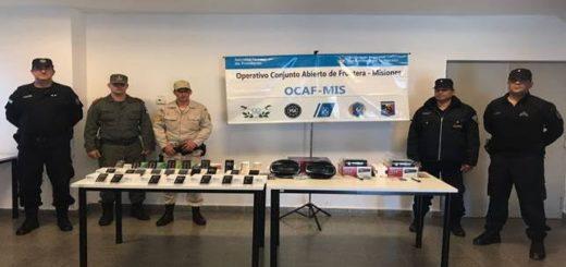 Prefectura secuestró celulares de contrabando valuados en más de 154 mil pesos en Posadas