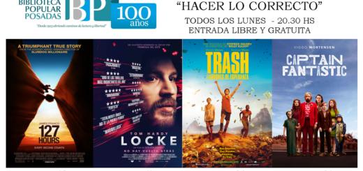 """Desde este lunes comienza el nuevo ciclo de cine """"Hacer lo correcto"""" en la Biblioteca Popular Posadas"""