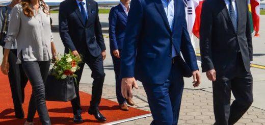El presidente Mauricio Macri llegó hoy a la ciudad alemana de Hamburgo para participar mañana y el sábado de la Cumbre del G20