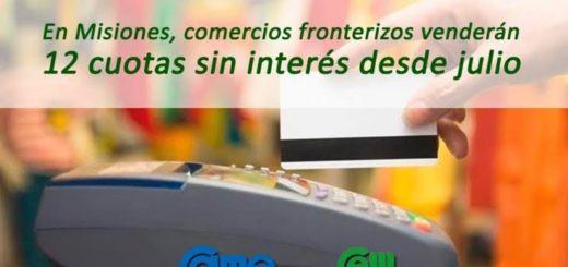 Comenzó promoción de tarjetas en 12 cuotas sin interés para comercios fronterizos