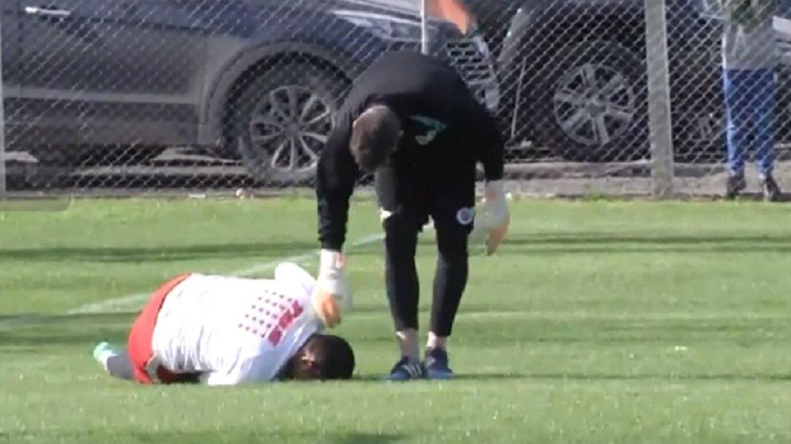 Sufre Boca: Wanchope Ábila sufrió un duro golpe entrenando con Huracán