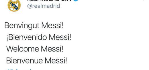 La cuenta del Real Madrid fue hackeada y le dio la bienvenida a Messi al club