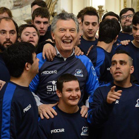 El presidente Macri recibió al seleccionado nacional de rugby inclusivo que participará del Mundial