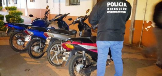 Delitos Complejos recuperó cuatro motos robadas en Posadas