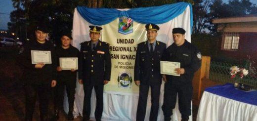 San Ignacio: reconocieron a policías destacados en procedimientos contra el Narcotráfico y otros delitos