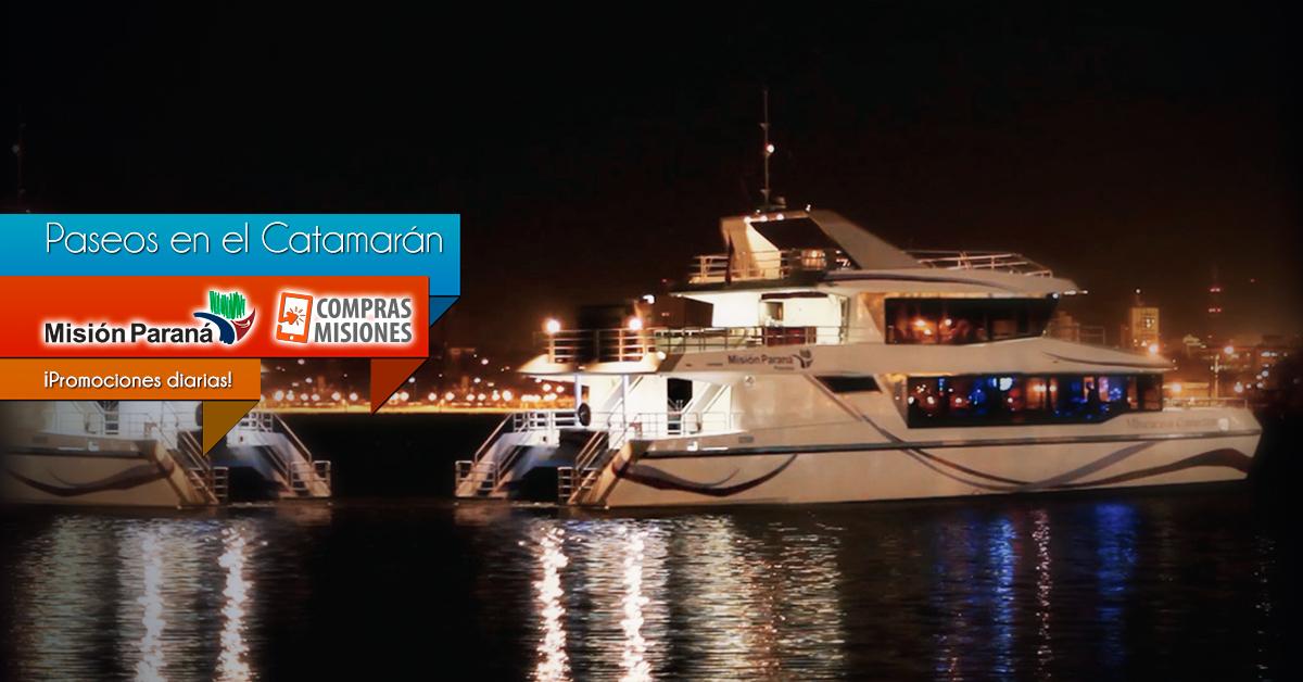 Catamarán de Posadas: Ahora adquirís los paseos por Internet en Compras Misiones y los pagás con tarjeta y en cuotas