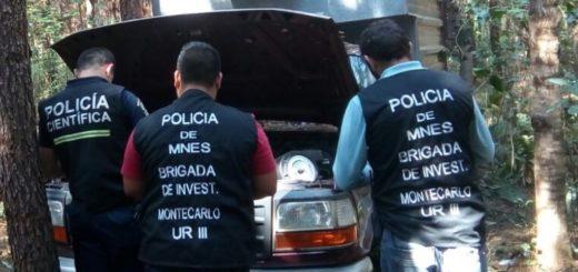 Montecarlo: robaron una camioneta y la abandonaron sin ruedas en una zona boscosa