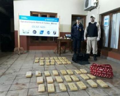 Prefectura secuestró más de 31 kilos de marihuana en Corpus